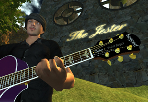 Didier Soyuz Warming Up outside the Jester Inn in Pixel Hill Secondlife