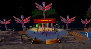 Strangefates Stage at Monkey Island